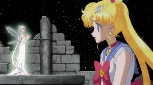 Sailor Moon Crystal Act 10 - Queen Serenity talking to her daughter Sailor Moon