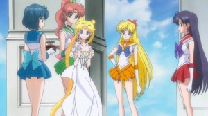 Sailor Moon Crystal Act 10 - The Sailor Guardians and Princess Serenity during Silver Millennium