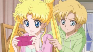 Sailor Moon Crystal Act 10 - Usagi and Shingo playing Gameboy Advance