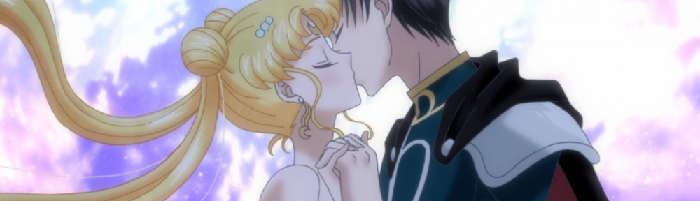 Sailor Moon Crystal Act 9 - Princess Serenity kissing Prince Endymion