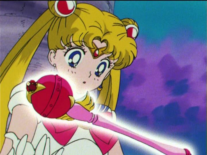 Sailor Moon R episode 51 - Sailor Moon receives the Cutie Moon Rod