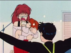 Sailor Moon R episode 53 - Manami peeing in Natsumi's face