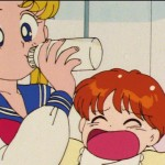 Sailor Moon R episode 53 - Usagi stealing Manami's bottle