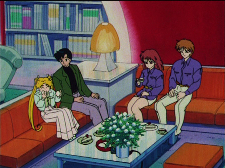 Sailor Moon R episode 58 - Usagi, Mamoru, Natsumi and Seijirou