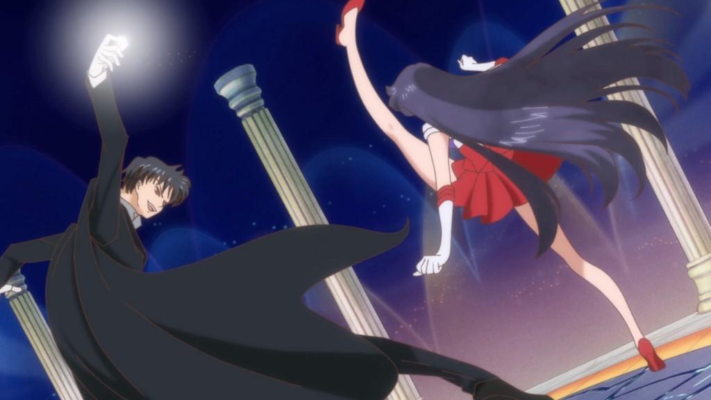 Sailor Moon Crystal Act 11 - Sailor Mars kicks Tuxedo Mask