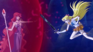 Sailor Moon Crystal Act 12 - Sailor Venus attacking Beryl
