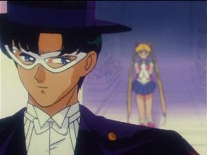 Sailor Moon R episode 61 - Tuxedo Mask and Sailor Moon