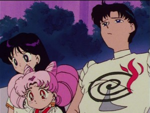Sailor Moon R episode 66 - Rei, Chibiusa and Mamoru