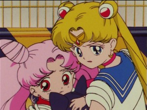 Sailor Moon R episode 68 - Chibiusa and Sailor Moon