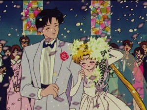 Sailor Moon R episode 68 - Mamoru and Usagi's wedding