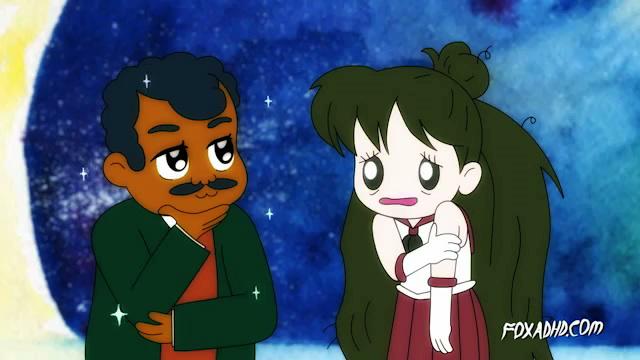 Animation Domination's Sailor Moon 2015 - Neil deGrasse Tyson and Sailor Pluto
