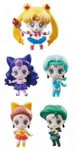 Ayakashi Sisters Petit Chara figures - Sailor Moon, Koan, Berthier, Calaveras and Petz