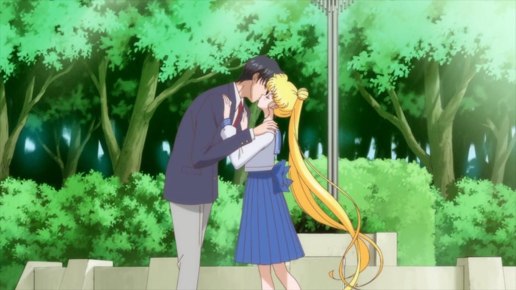 Sailor Moon Crystal Act 14 - Mamoru and Usagi kissing