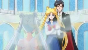 Sailor Moon Crystal Act 14 - Queen Serenity, Usagi and Tuxedo Mask