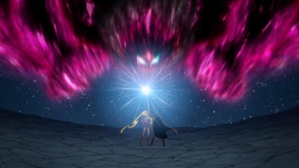 Sailor Moon Crystal Act 14 - Sailor Moon and Tuxedo Mask fight Queen Metalia