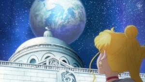 Sailor Moon Crystal Act 14 - Sailor Moon looking at the Earth