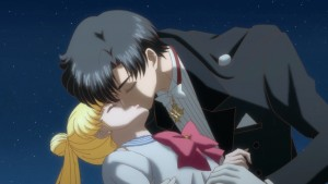 Sailor Moon Crystal Act 14 - Tuxedo Mask kissing Usagi
