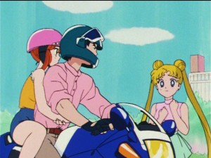 Sailor Moon R episode 69 - Usagi sees Mamoru with Unazuki