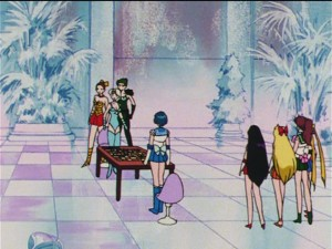 Sailor Moon R episode 71 - Beruche vs. Sailor Mercury in a chess game