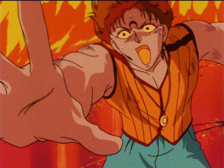 Sailor Moon R episode 74 - Rubeus dying