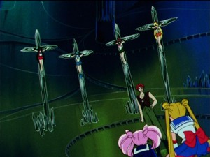 Sailor Moon R episode 74 - Subtle religious imagery