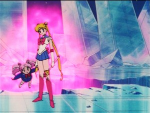 Sailor Moon R episode 75 - Sailor Moon can make Chibiusa fly