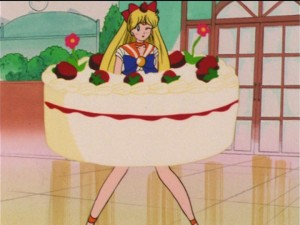 Sailor Moon R episode 76 - Sailor Venus is a cake