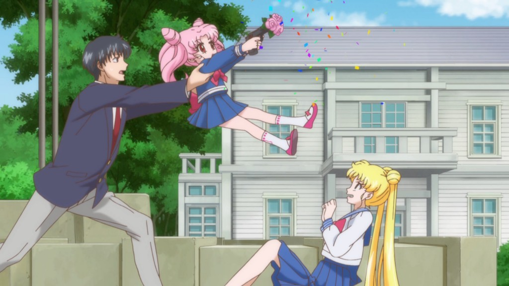 Sailor Moon Crystal Act 15 - Chibiusa shooting Usagi