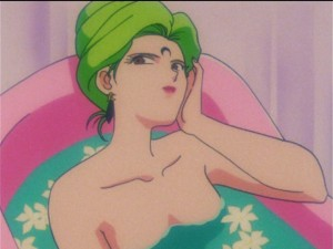 Sailor Moon R episode 80 - Esmeraude in the tub