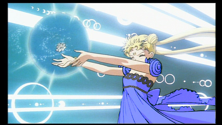 What colour is Princess Serenity's dress?