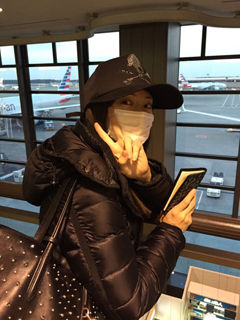 Keiko Kitagawa wearing a mask