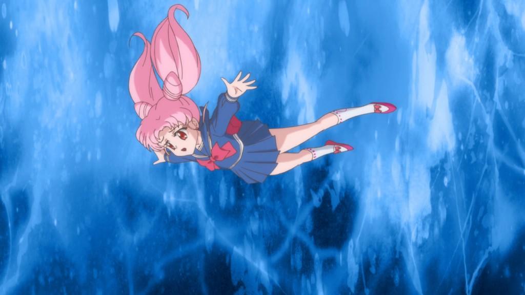 Sailor Moon Crystal Act 19 - Chibiusa falling - Blue uniform