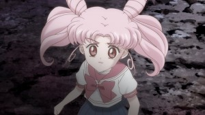 Sailor Moon Crystal Act 19 - Chibiusa in the future with a white outfit
