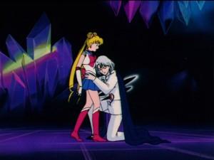 Sailor Moon R episode 87 - Demande sacrificing himself for Sailor Moon