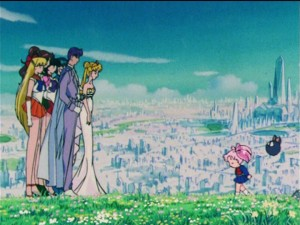 Sailor Moon R episode 88 - Future Crystal Tokyo restored