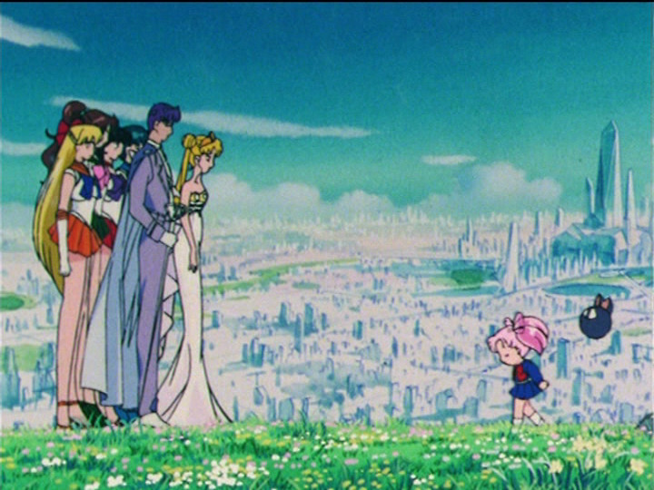 Sailor Moon R episode 88 - Future Crystal Tokyo restored