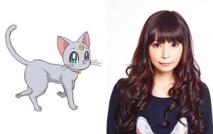 Shoko Nakagawa, the voice of Diana in Sailor Moon Crystal
