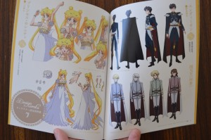 Sailor Moon Blu-Ray vol. 7 - Special Booklet - Pages 14 and 15 - Character designs for Princess Serenity, Endymion and the Shitennou