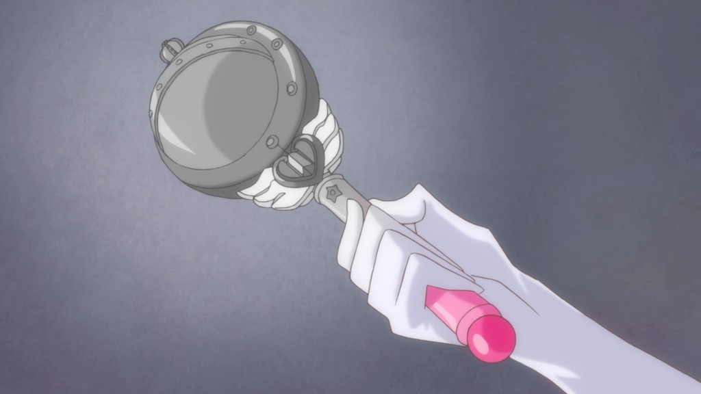 Sailor Moon Crystal Act 19 - Animation mistake - Miscoloured Cutie Moon Rod