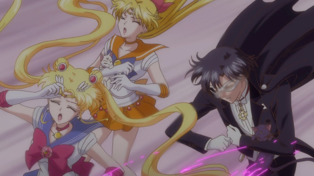 Sailor Moon Crystal Act 19 - Sailor Pluto uses Dead Scream on Sailor Moon