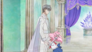 Sailor Moon Crystal Act 20 - Chibiusa walks through her father