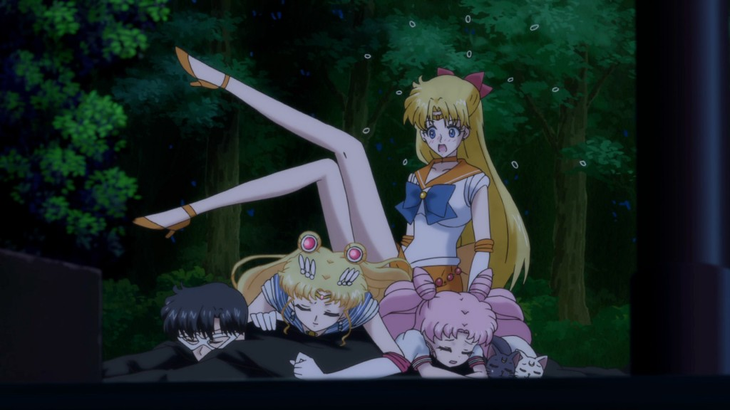 Sailor Moon Crystal Act 20 - Sailor Venus lands on everyone