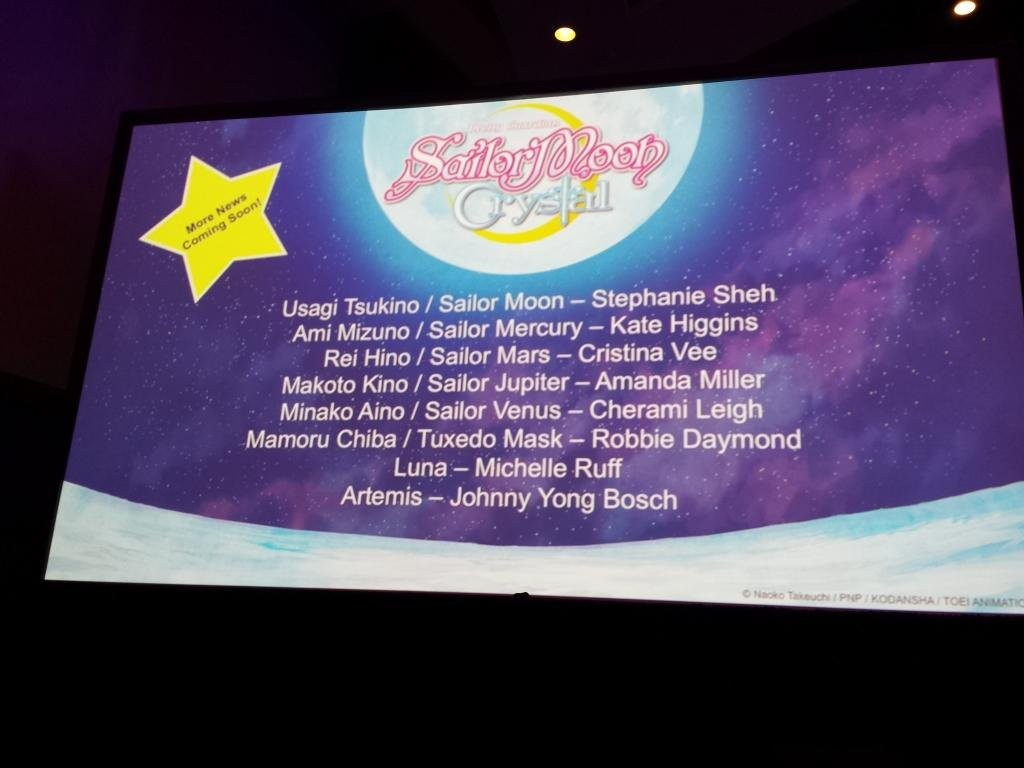 Sailor Moon Crystal dub voice cast