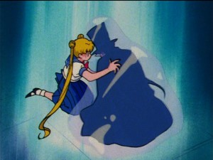 Sailor Moon S episode 101 - Mamoru frozen