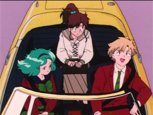 Sailor Moon S episode 96 - Haruka got her license overseas
