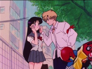 Sailor Moon S episode 99 - Rei crushing on Haruka