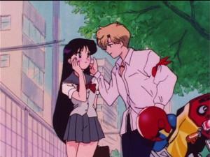 Sailor Moon S episode 99 - Rei crushing on Haruka