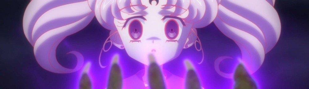 Sailor Moon Crystal Act 21 - Chibiusa with the symbol of the Black Moon Clan