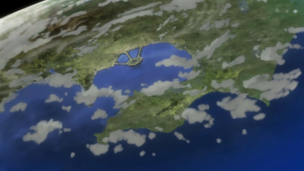 Sailor Moon Crystal Act 21 - Crystal Tokyo as seen from the sky