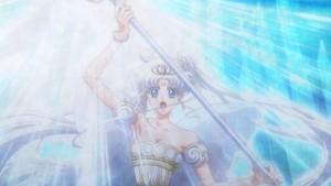 Sailor Moon Crystal Act 21 - Neo Queen Serenity fighting Death Phantom